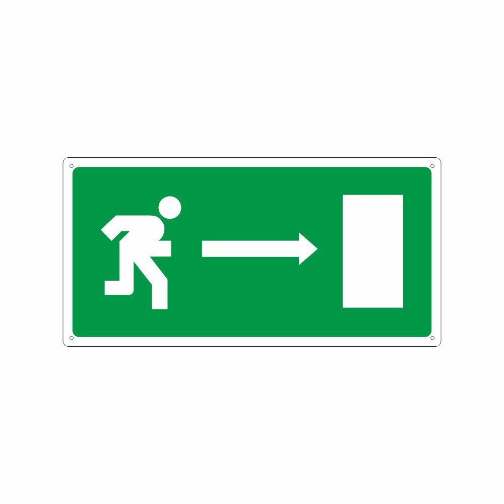 Cartello Percorso di emergenza a sinistra
