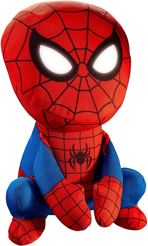 Spider-Man-Morbido Pupazzo e Luce Notturna, Colore Rosso E Blu, 14314