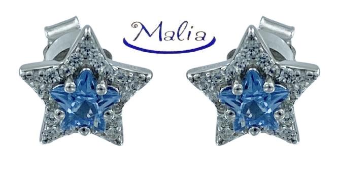 Orecchini a lobo in argento 925 rosè o bianco a stella con al centro incassato un grosso zircone