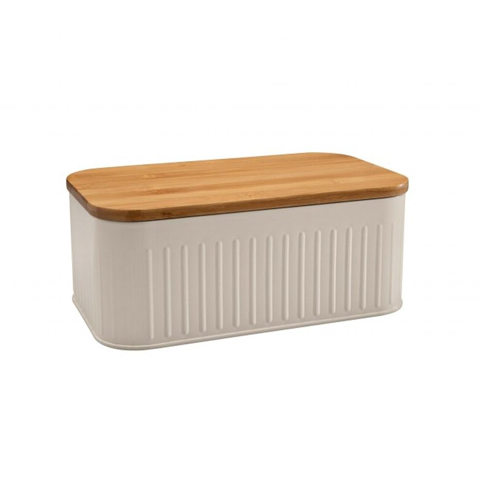 Scatola porta pane con coperchio di legno