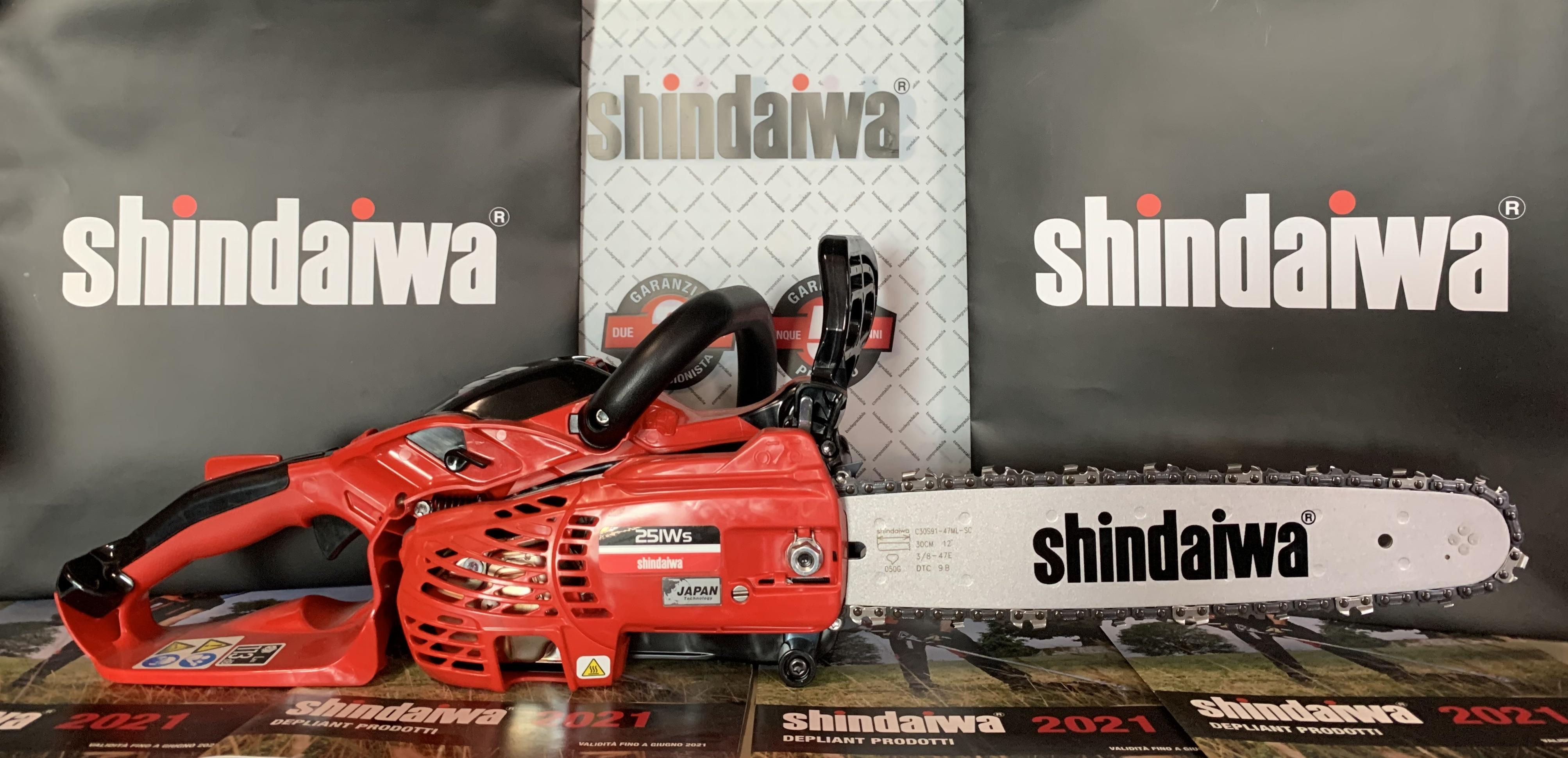 MOTOSEGA SHINDAIWA 251WS 25 cc - 1,1 Kw DOPPIA IMPUGNATURA LEGGERA E PROFESSIONALE