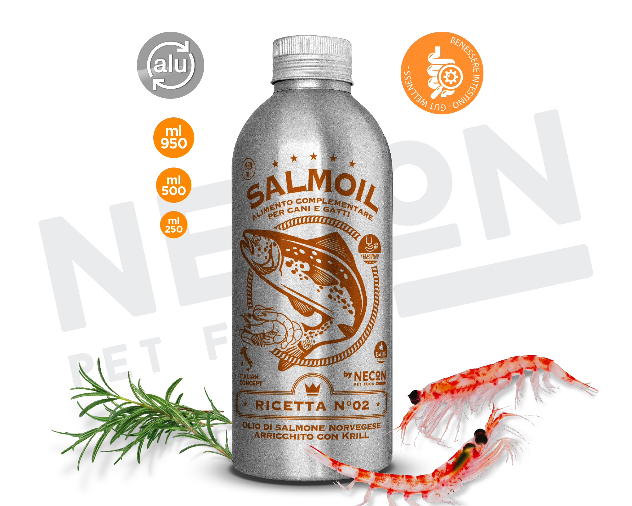 SALMOIL RICETTA n° 2 OLIO DI SALMONE  con krill