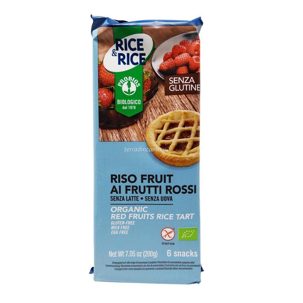 RISO FRUIT AI FRUTTI ROSSI  (6x33,3g) 200g  RICE & RICE