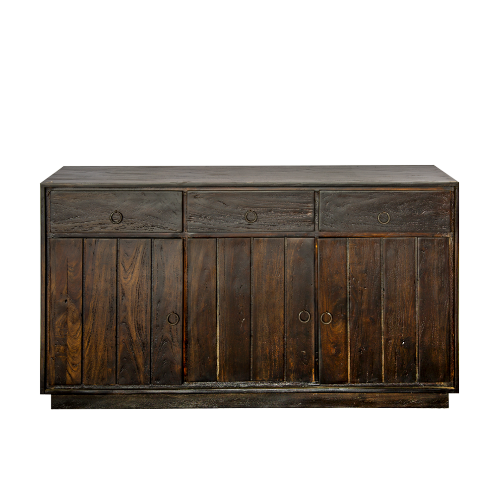 Buffet in legno di palissandro dark brown con 3 cassetti e 3 ante