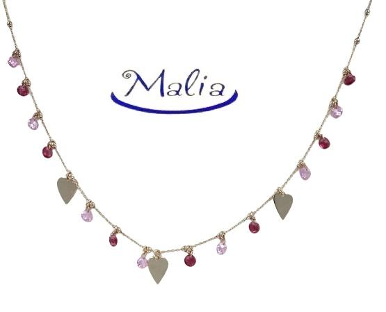 Elegante girocollo in argento 925 rosè con ciondoli a stella o a cuore