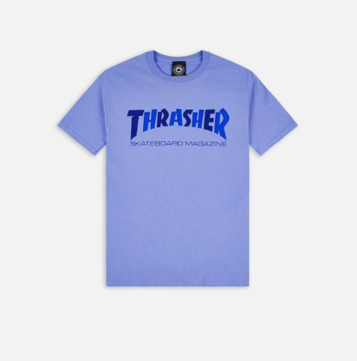 T-Shirt Thrasher Checker Blue