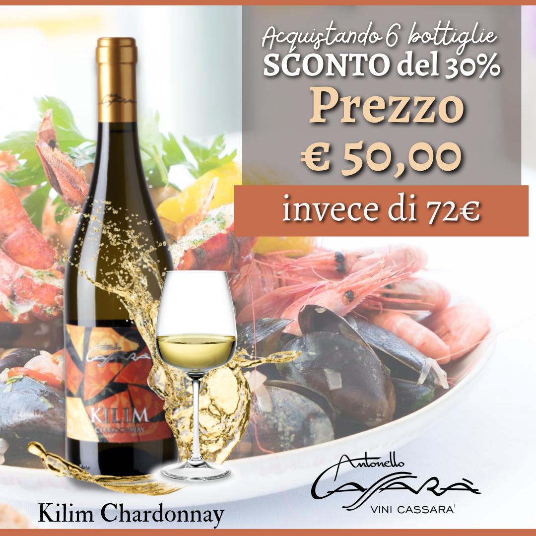 Offerta Kilim Chardonnay IGP Terre Siciliane 2020 - 6 Bottiglie