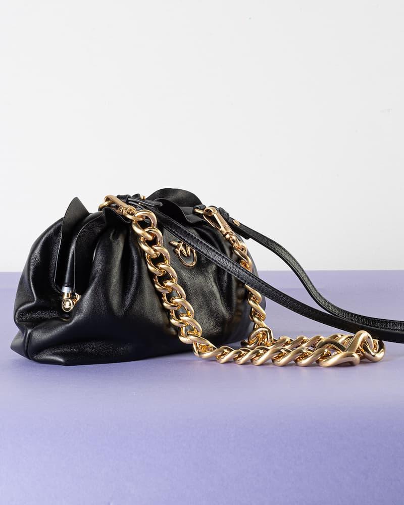 Borsa Mini Chain Clutch Fraimed Chain Black Pinko SS21