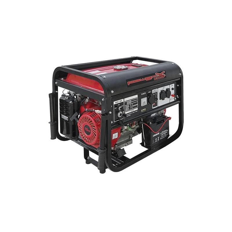 POWEX GENERATORE PH5500C - 5.5 KW Hp 15 AVVIAMENTO A CHIAVE