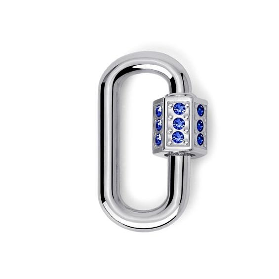 2Jewels Lucchetto Lock 'n' Chain - Ovale Cristalli Blu