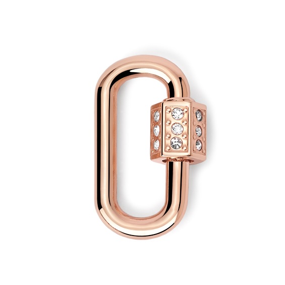 2Jewels Lucchetto Lock 'n' Chain - Ovale Pvd Rosé Cristalli