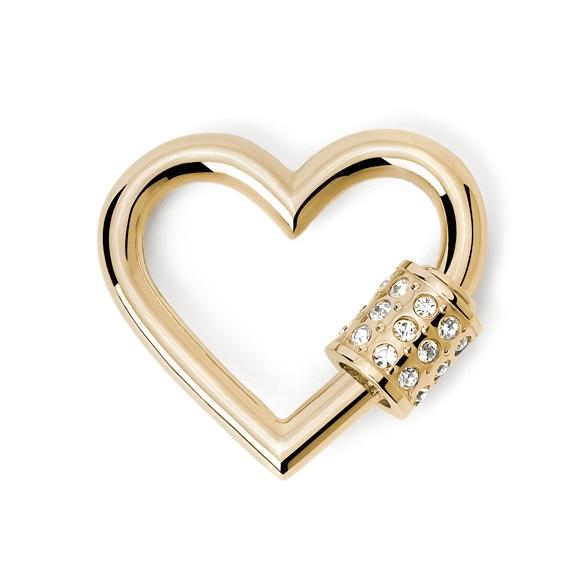 2Jewels Lucchetto Lock 'n' Chain - Cuore Pvd Gold Cristalli