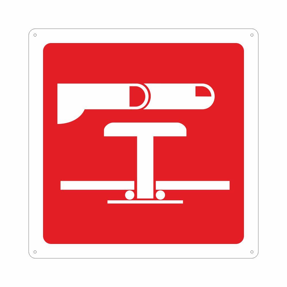 Cartello simbolo interruttore di emergenza