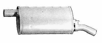TUBO GAS DI SCARICO MARMITTA PER RENAULT 5 601807