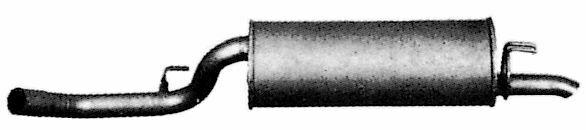 TERMINALE GAS DI SCARICO MARMITTA PER FIAT REGATA  1.6 SUPER 1.6 I.E.  266607