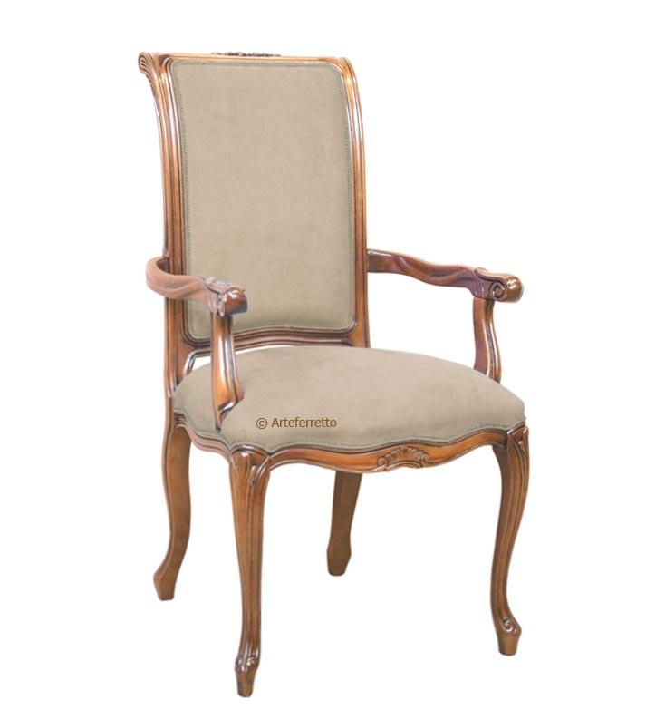 Chaise classique avec accoudoirs