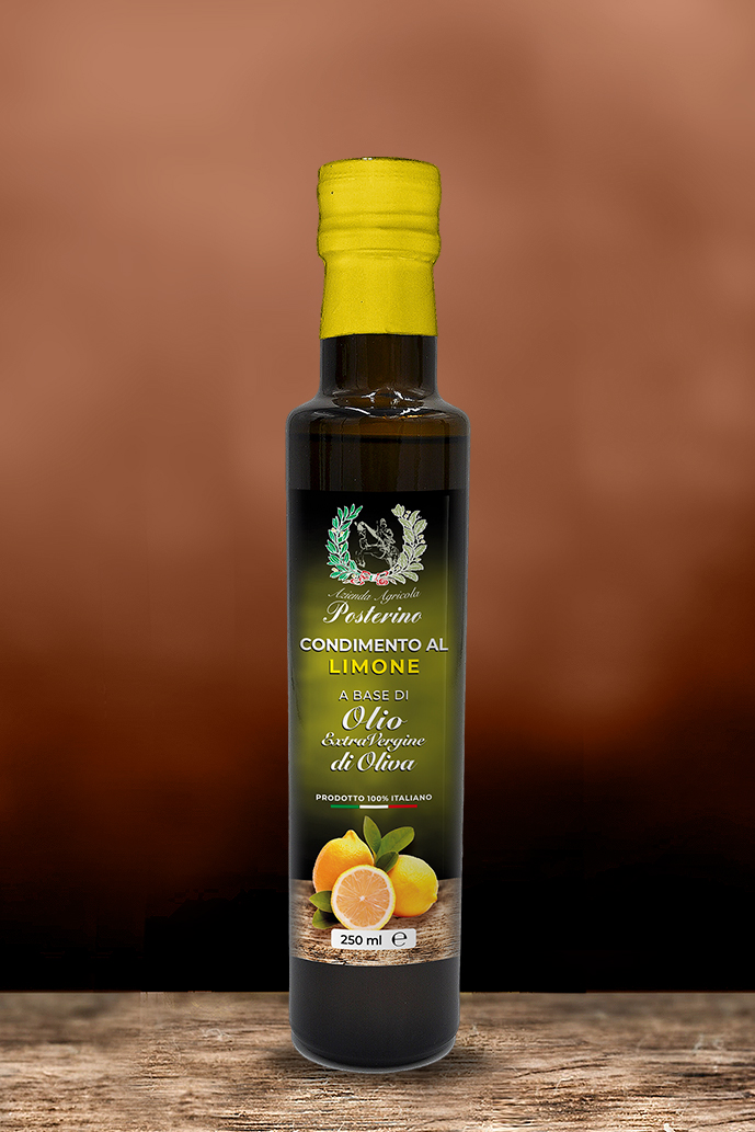 Olio Extravergine aromatizzato al Limone 250ml 100%Italiano