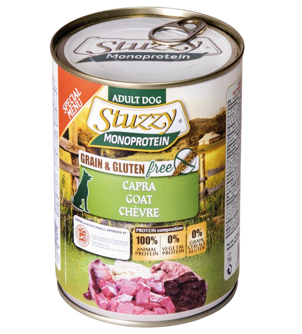 Stuzzy Dog - Monoprotein - Capra - 400g x 24 lattine - SCADENZA 01/2022