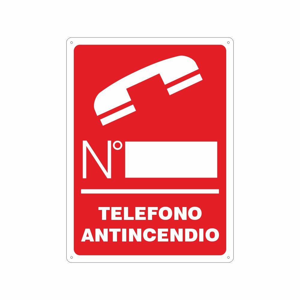 Cartello telefono antincendio