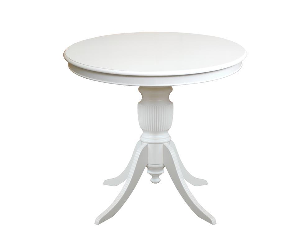 Table ronde 90 cm plateau fixe