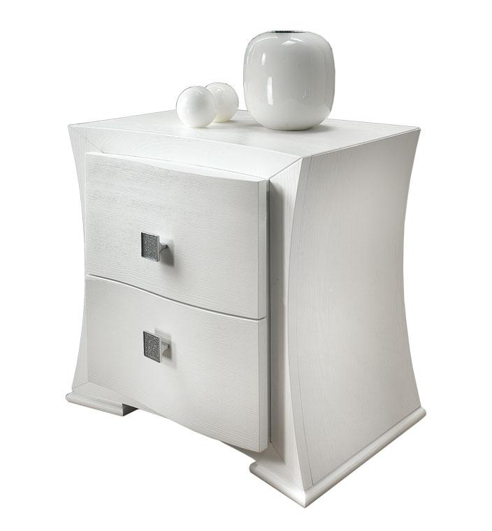 Table de chevet 2 tiroirs en frêne