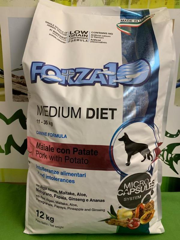 MEDIUM DIET MAIALE con PATATE low grain 12kg
