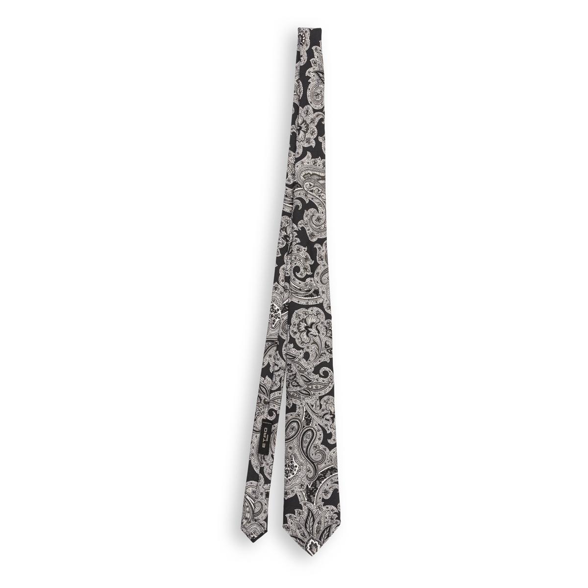 Cravatta Etro Disegno Cachemire Nero