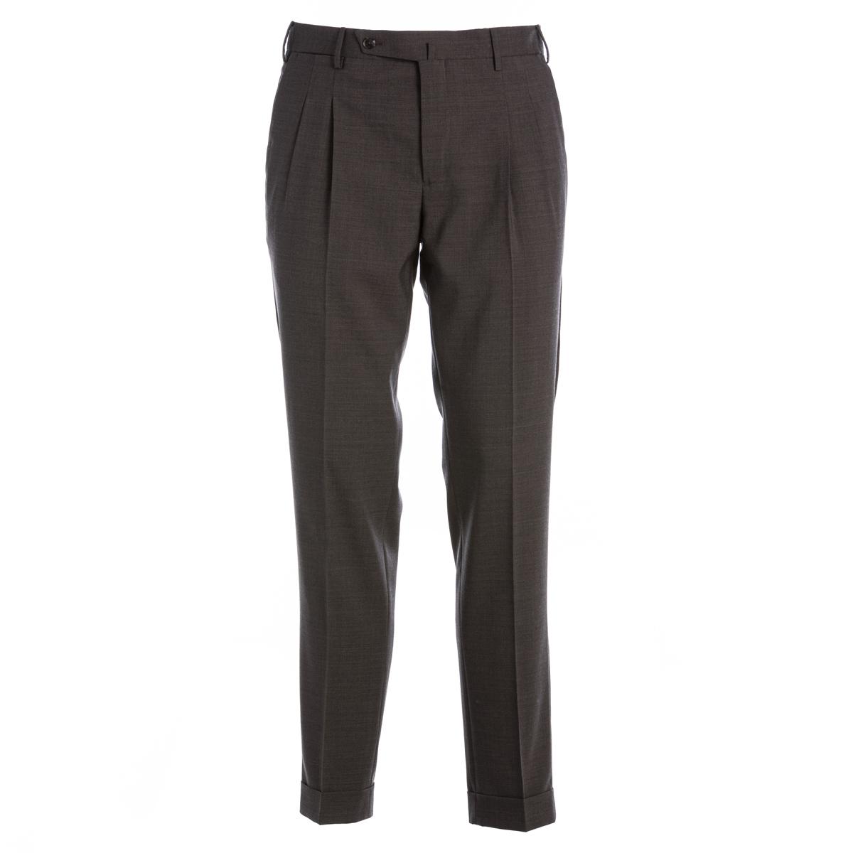 Pantalone in frescolana PT01 Preppy slim Marrone