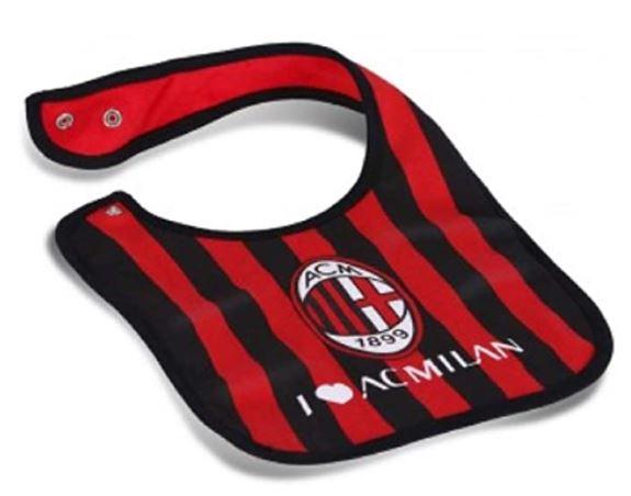 Bavaglino Bavetta Neonato Prima Infanzia AC Milan