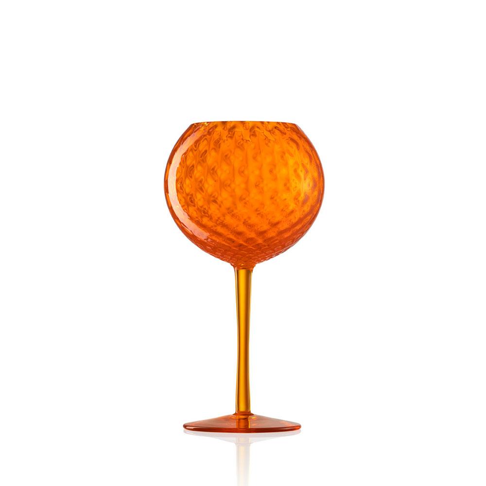 Calice Vino Rosso Gigolo Balloton Arancio