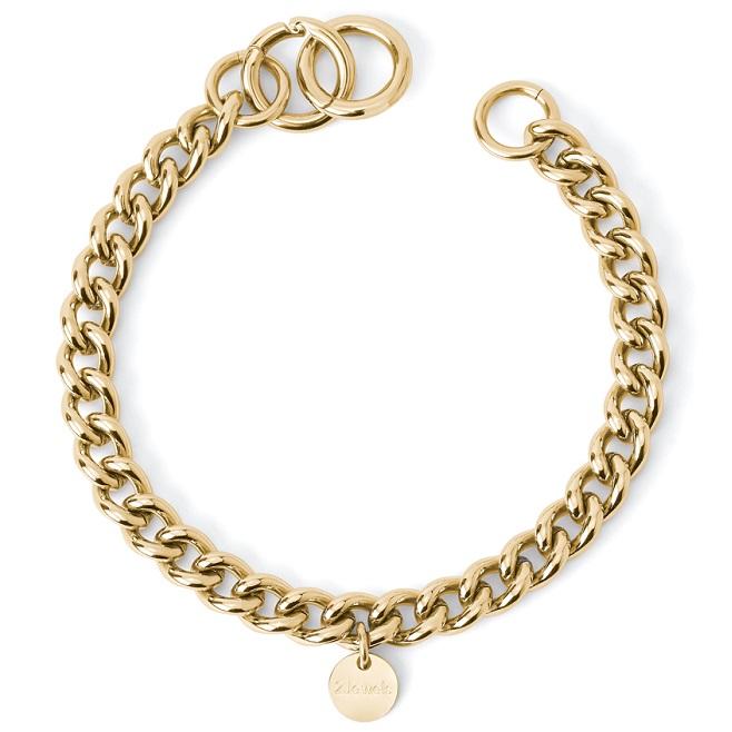 2Jewels Bracciale Lock 'n' Chain - Groumette Pvd Gold