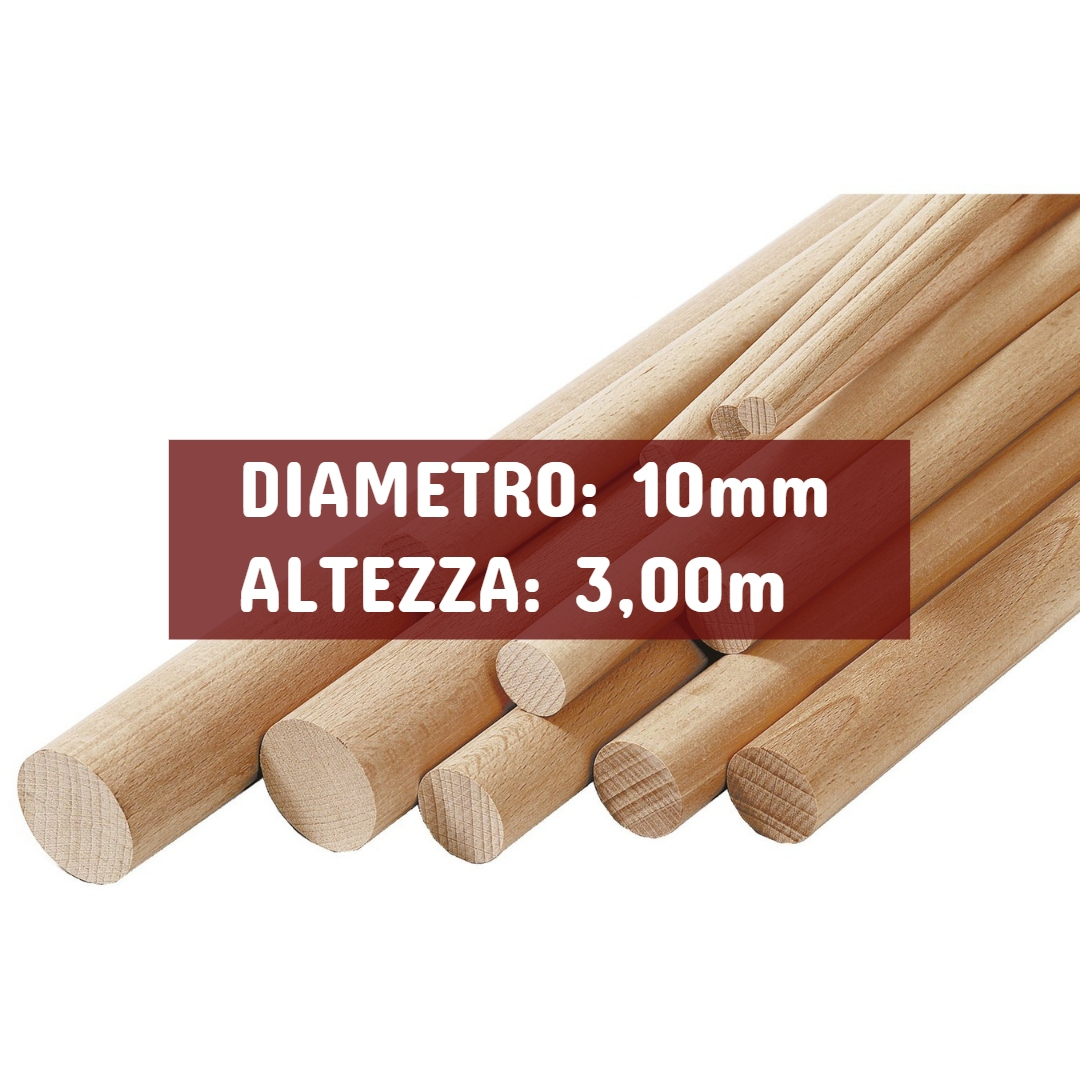 Profilo Tondo Ayous - DIAMETRO: 10mm - Altezza: 3,00mt