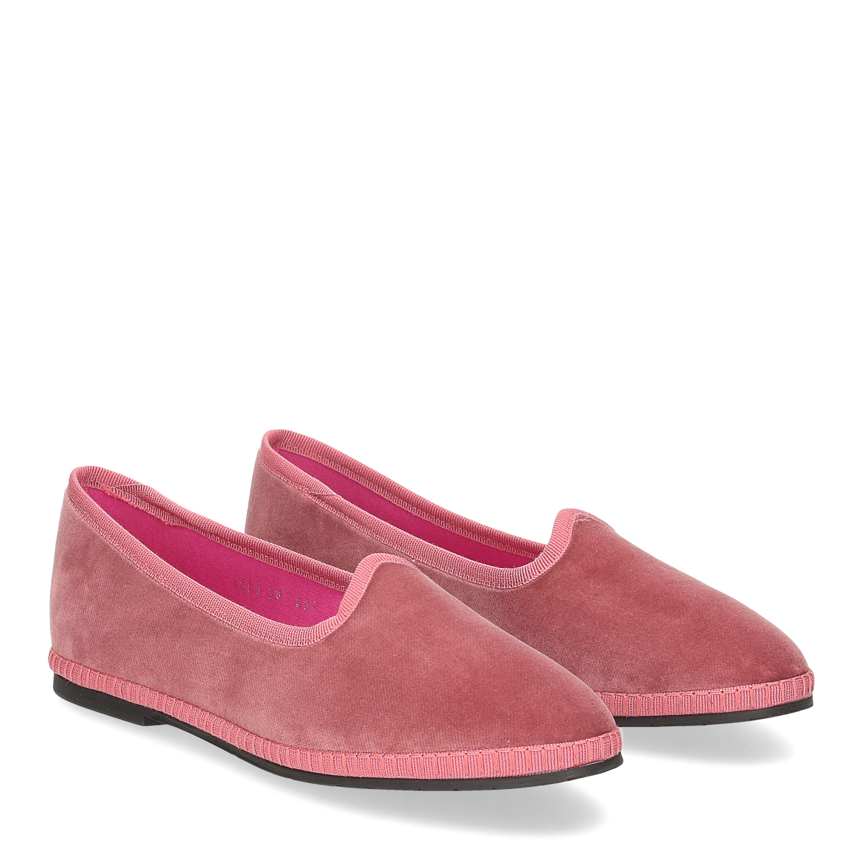 Le Babe Slipon friulane velluto rosa