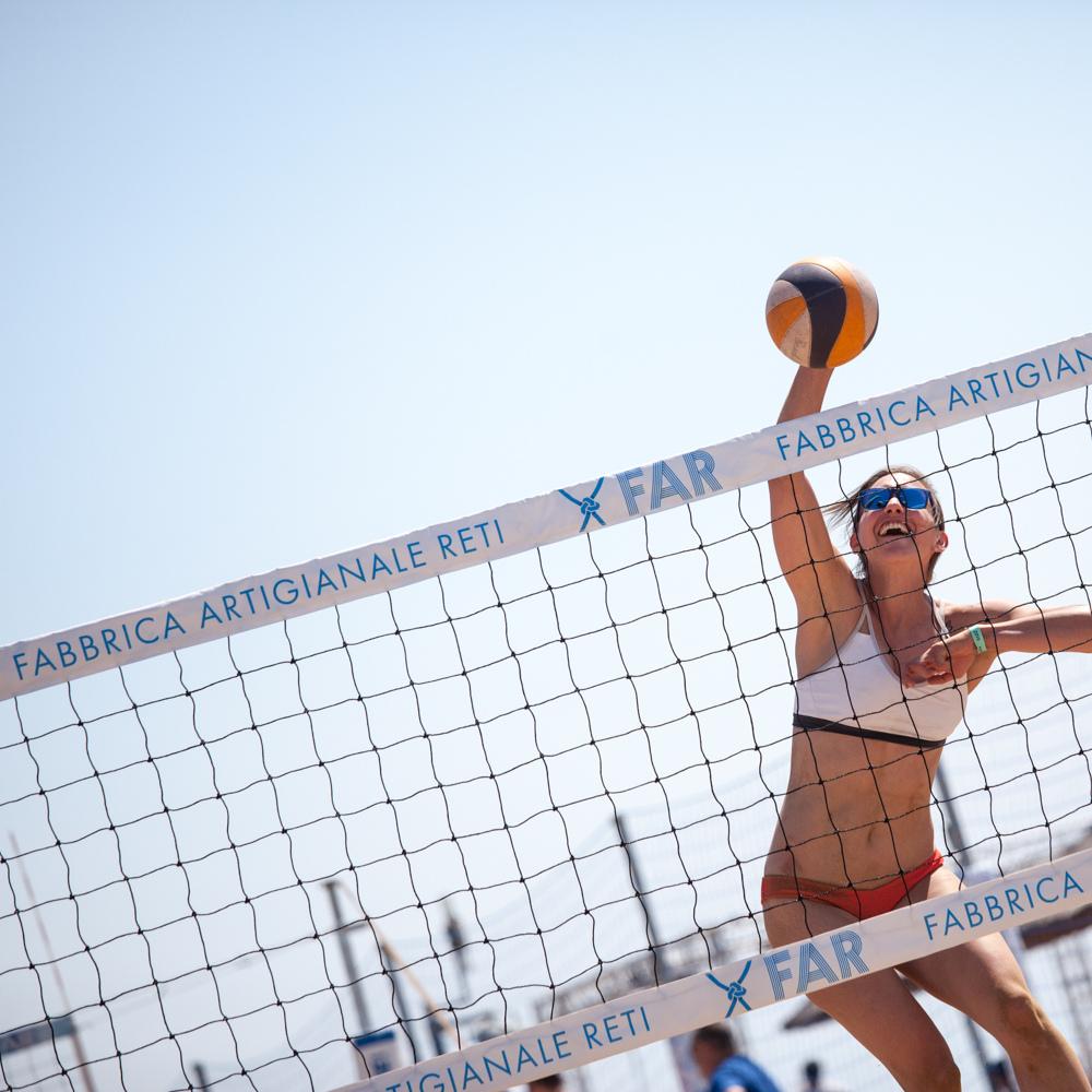 Rete da beach volley con stampa personalizzata «Extra»