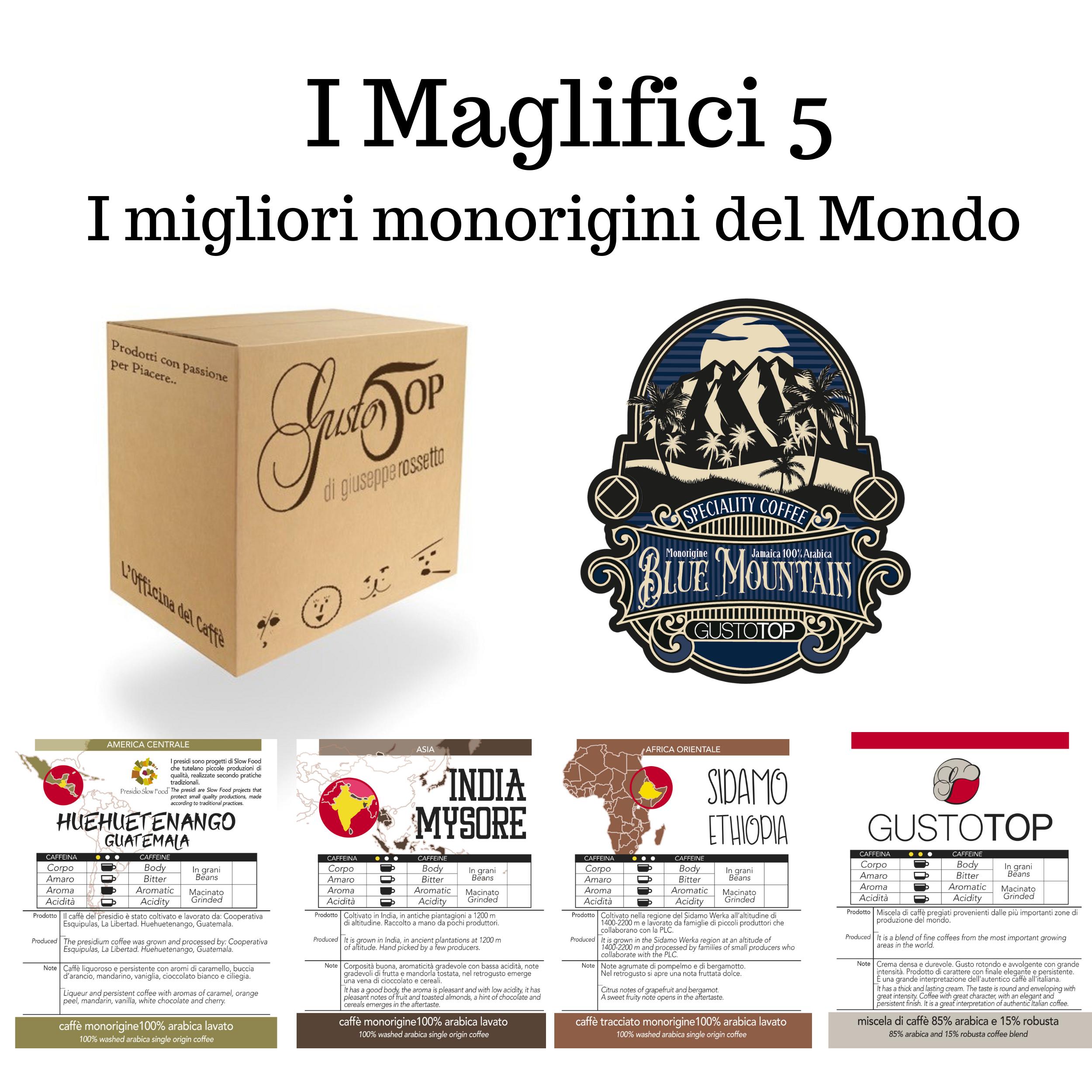 I MAGNIFICI 5, I 5 MONORIGINI TRA I MIGLIORI DEL MONDO, N. 35 CAFFÈ IN CIALDE.