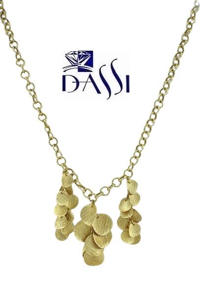 Girocollo in oro giallo massiccio con catena rolò incisa e diamantata