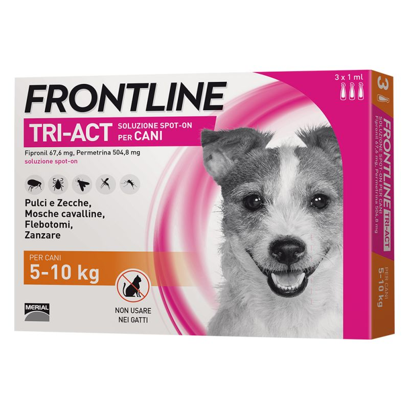 FRONTLINE TRI-ACT PER CANE 5-10KG 3 FIALE SPOT-ON