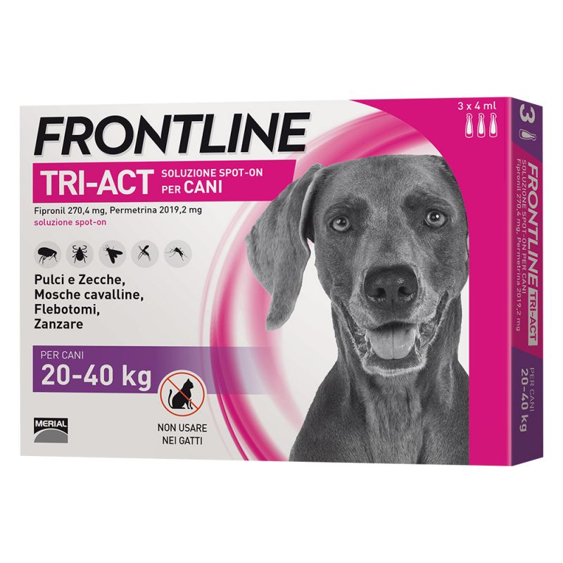 FRONTLINE TRI-ACT PER CANE 20-40KG 3 FIALE SPOT-ON
