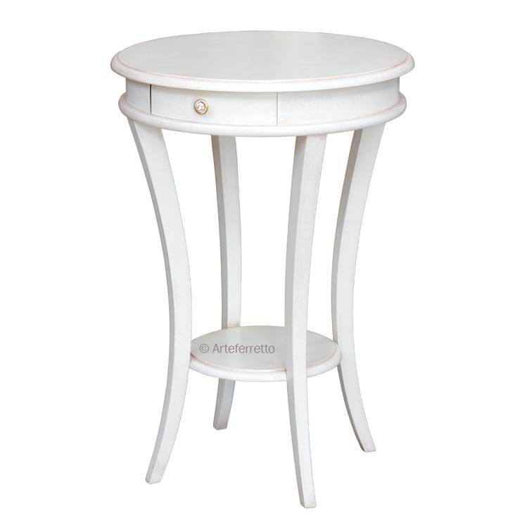 Tavolino classico rotondo laccato