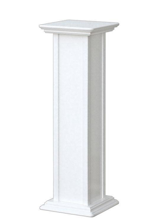 Macetero blanco de columna altura 80 cm - oferta