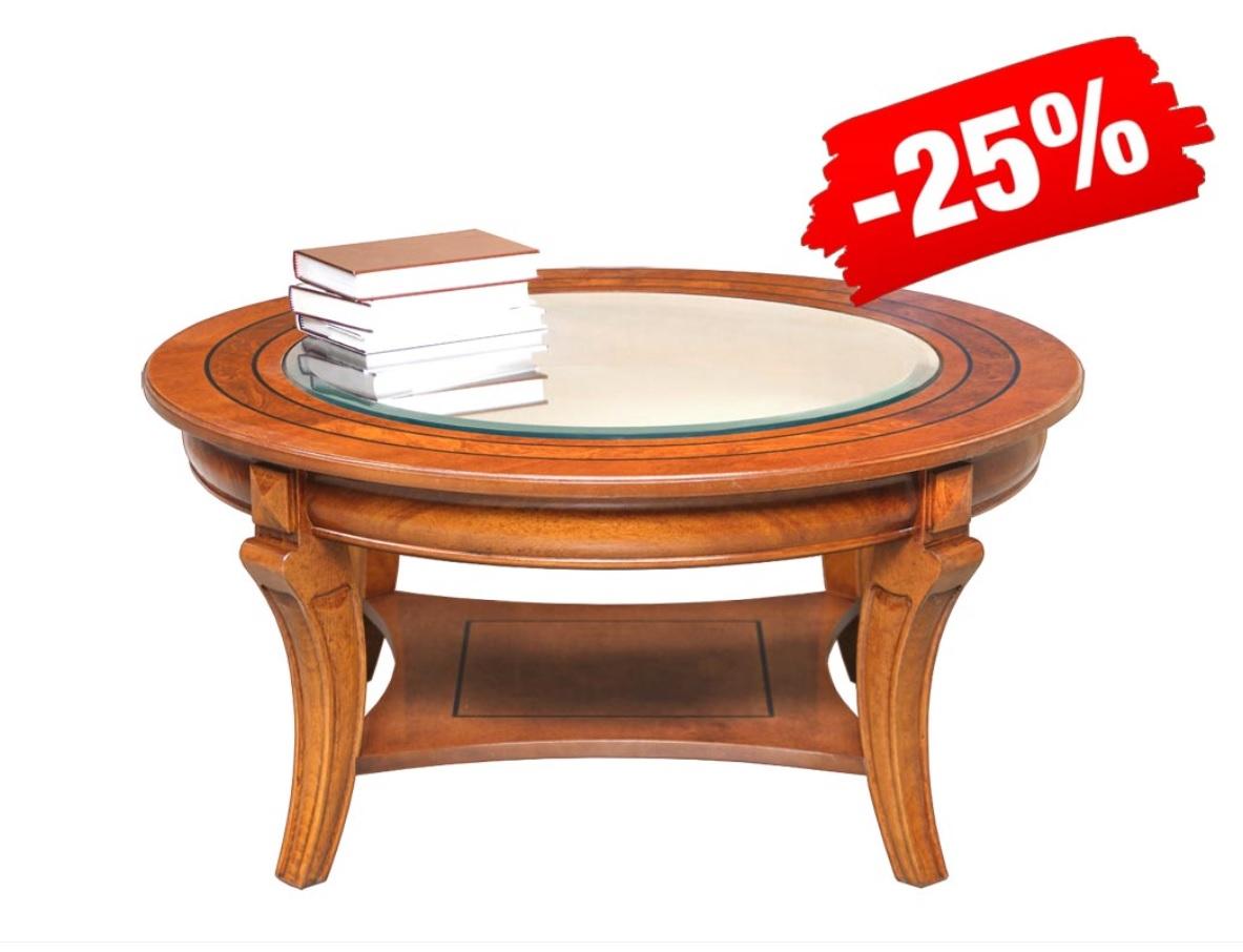 PROMO ! Table basse de salon ronde 90 cm