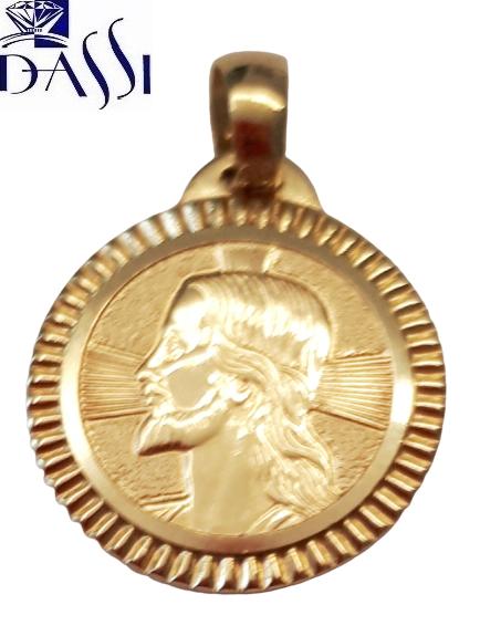 Medaglia religiosa Gesù, rotonda in oro giallo 18kt di Stella