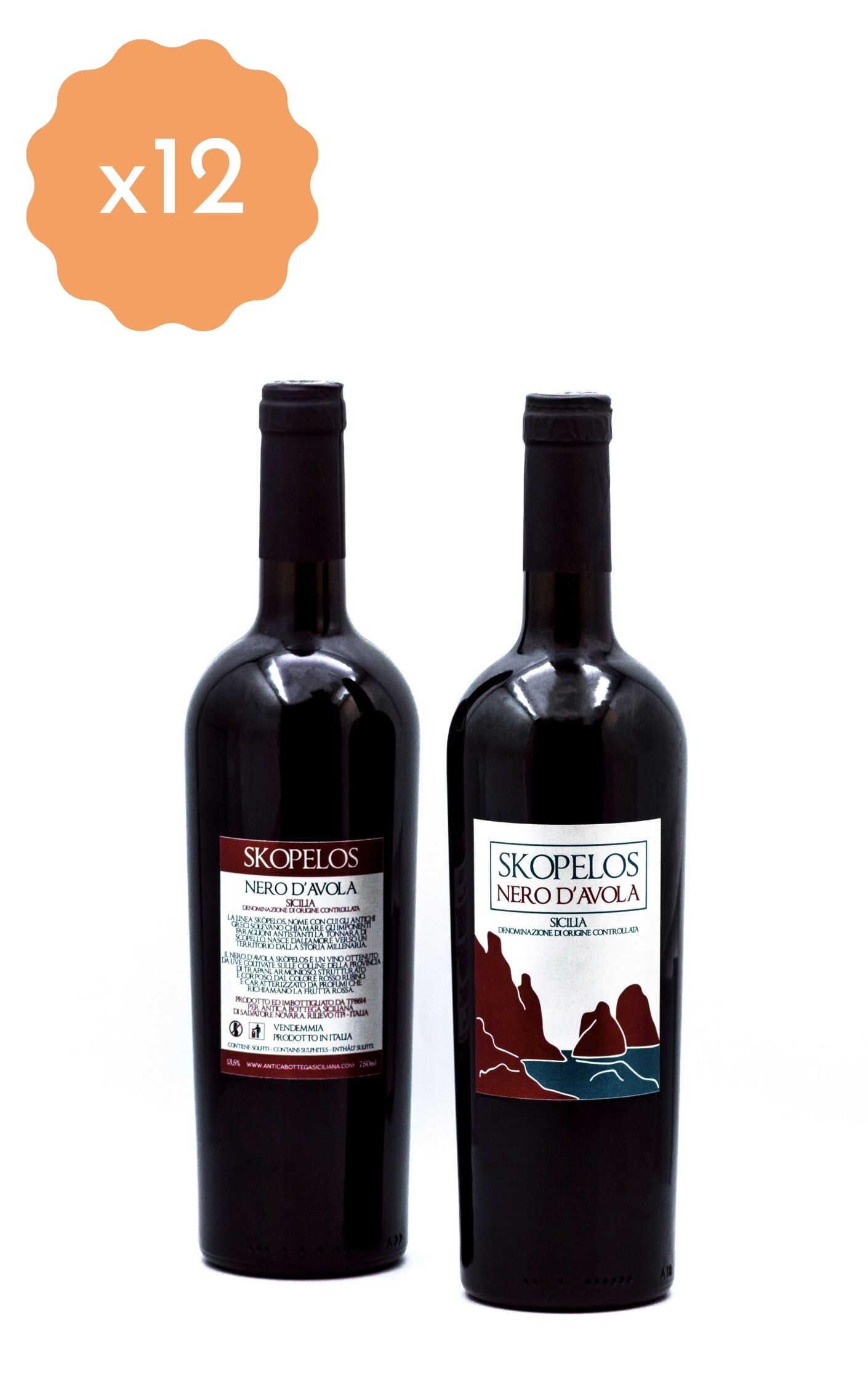Box 12 Bottiglie Nero D'Avola Skopelos
