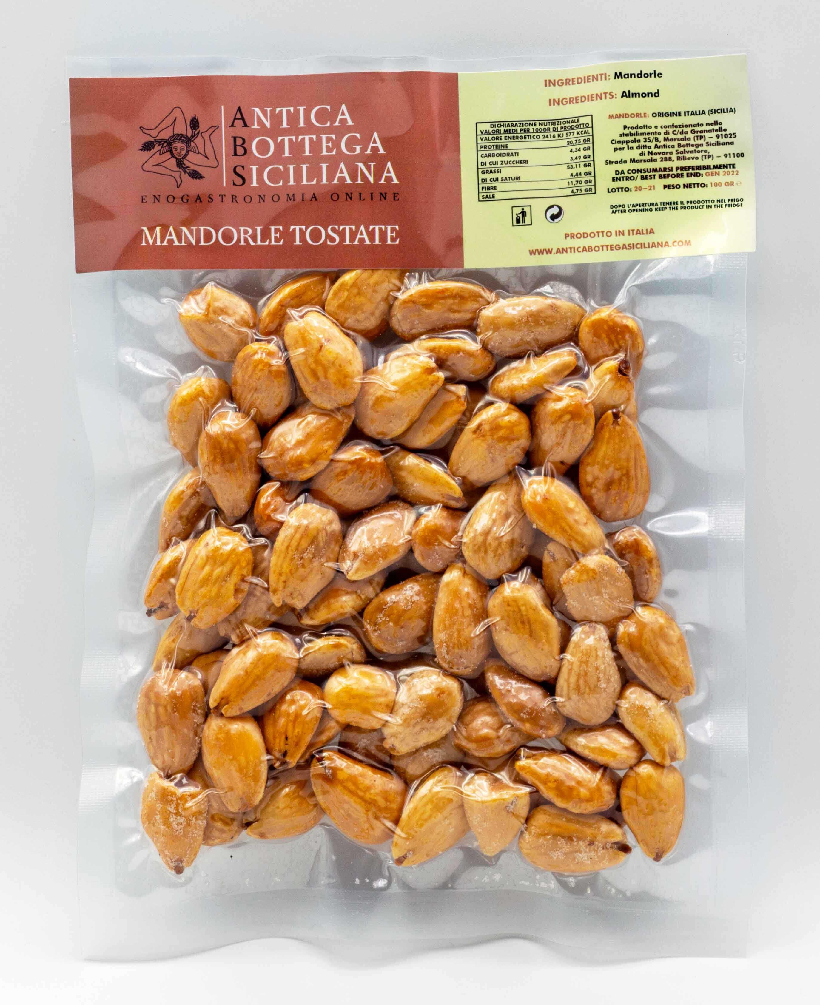 Mandarle siciliane tostate 100 grammi