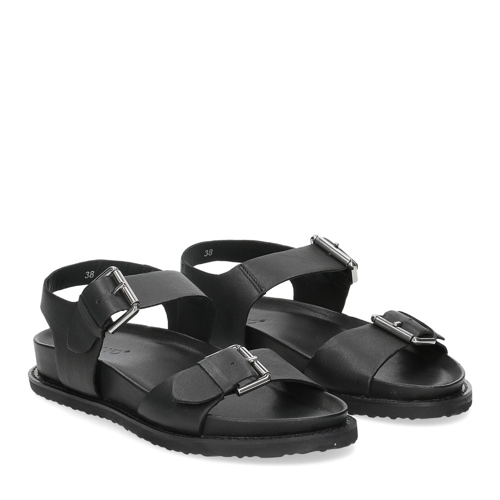 Inuovo sandalo 781004 pelle nera