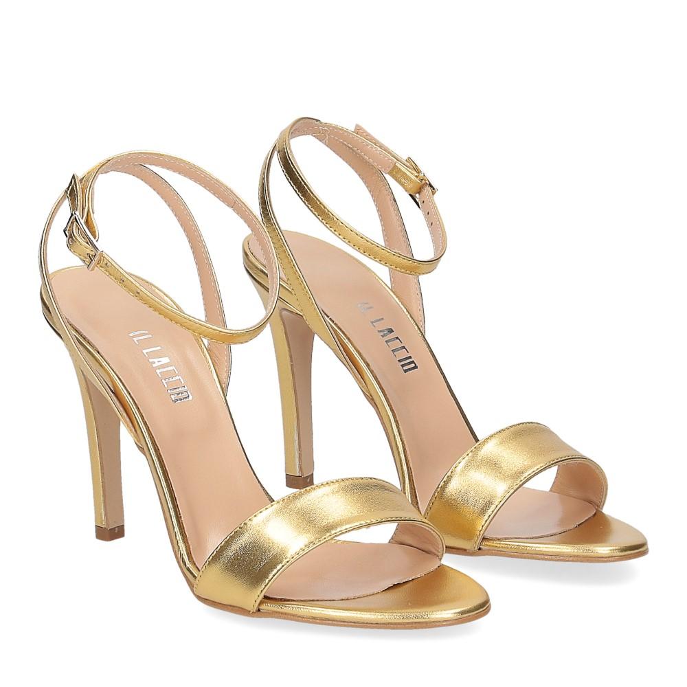 Il Laccio sandalo 1753L pelle platino