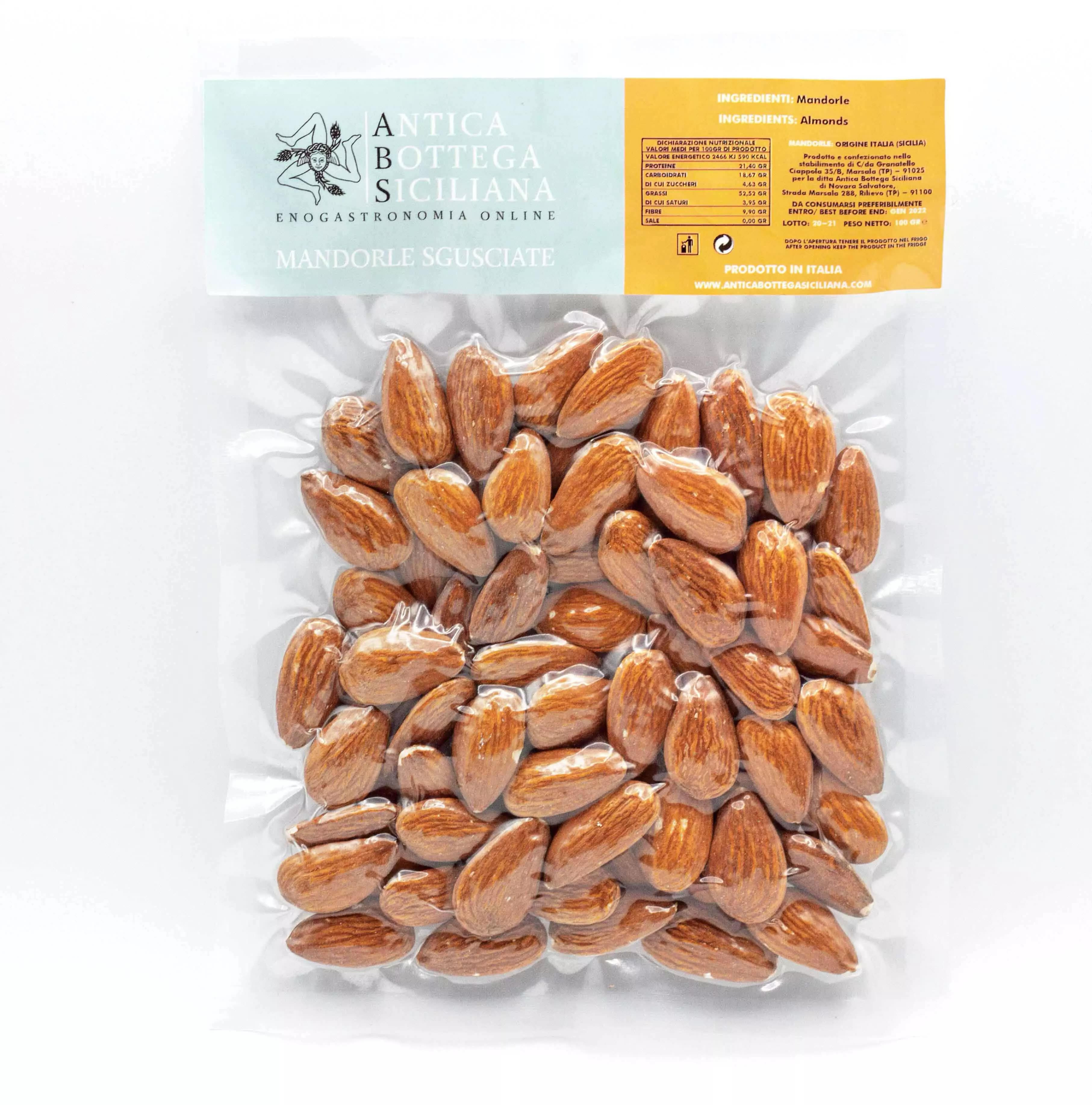 Mandorle sgusciate siciliane 100 grammi