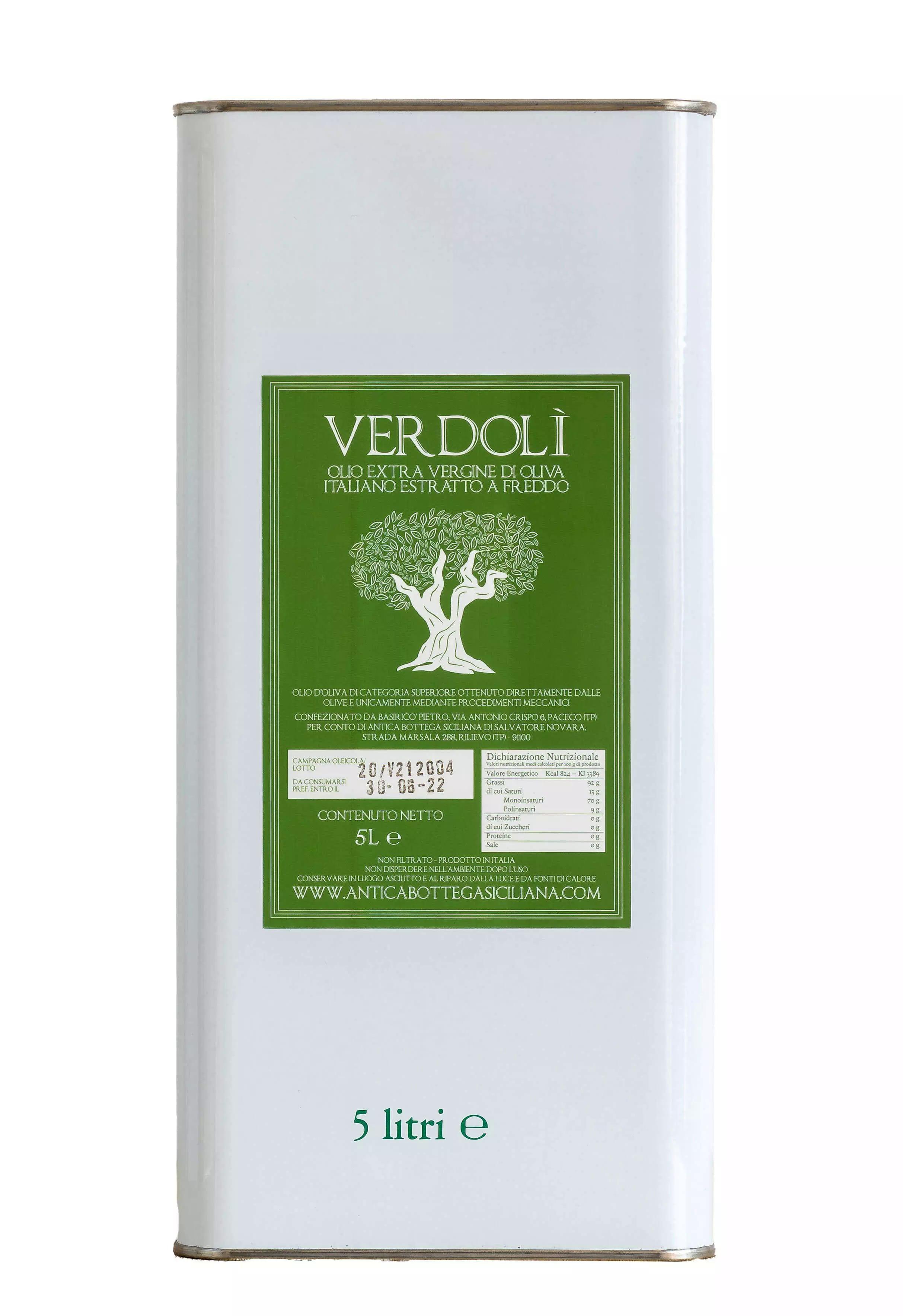 Verdolì 5 litri - Olio EVO
