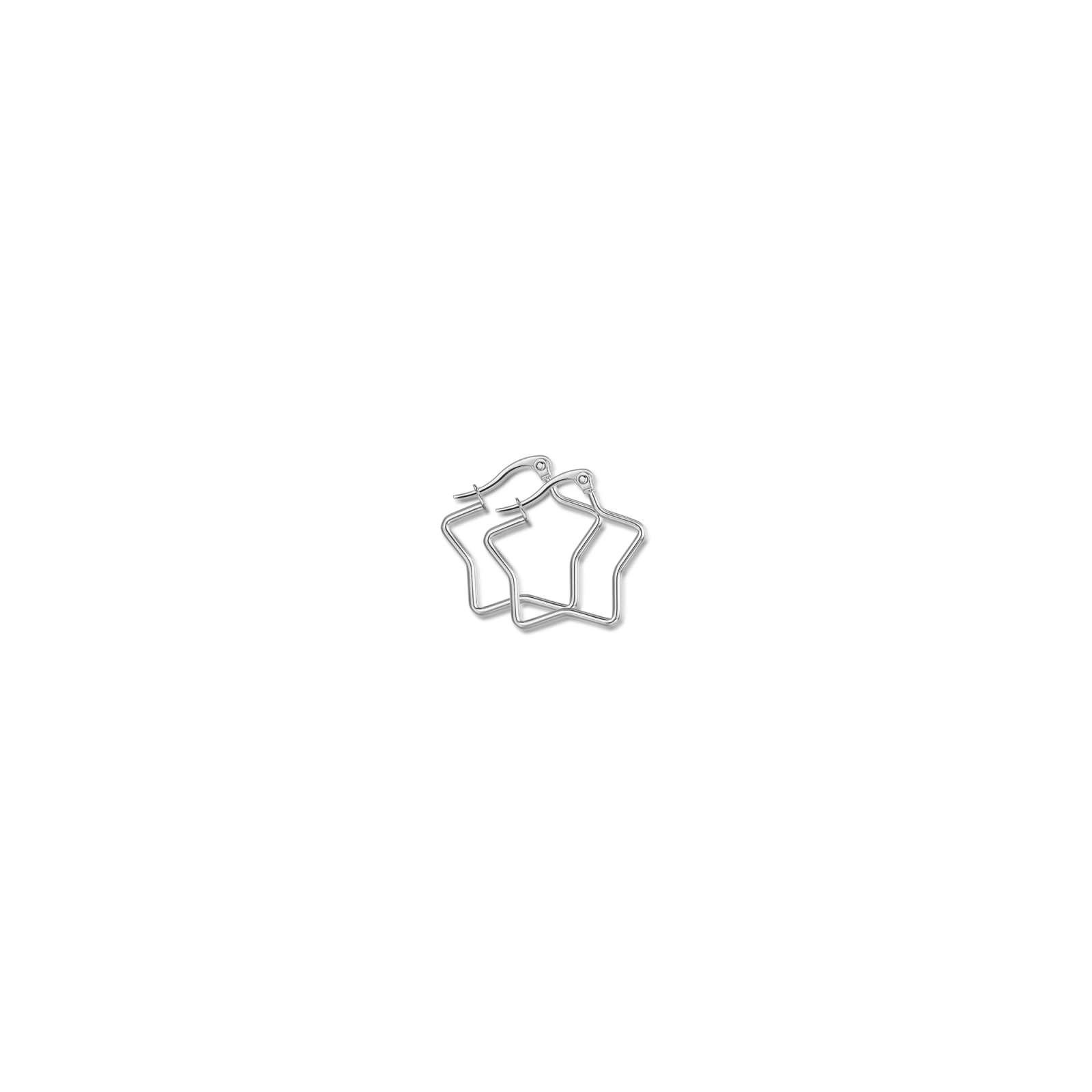 Luca Barra - Orecchini in acciaio a stella diametro 35mm