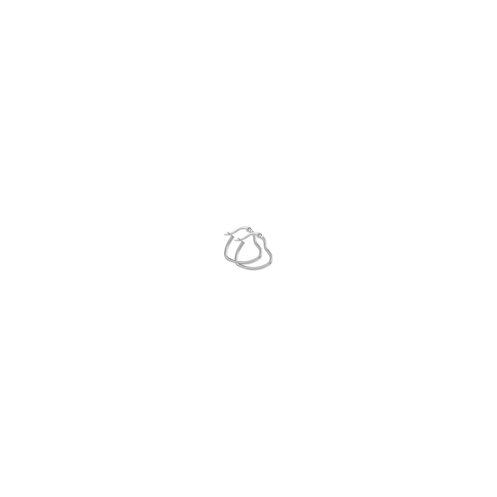 Luca Barra - Orecchini in acciaio a cuore diametro 13mm